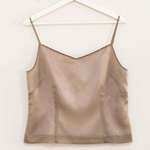 LOFT Taupe Beaded Neckline Camisole Top 10